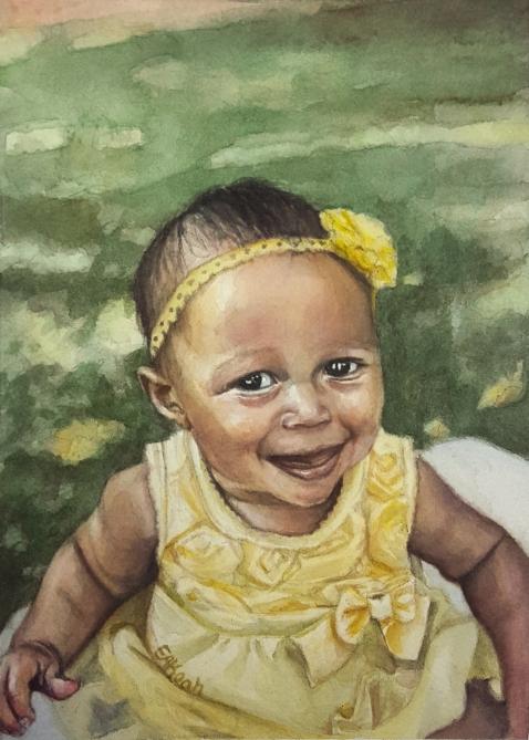 Lenora Noel painting finished